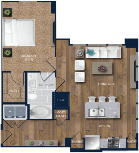 1 bedroom Apartment in Houston