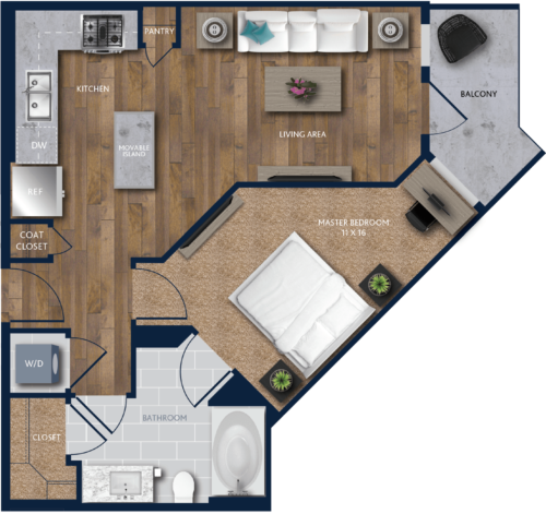 one bedroom Apartment in Houston