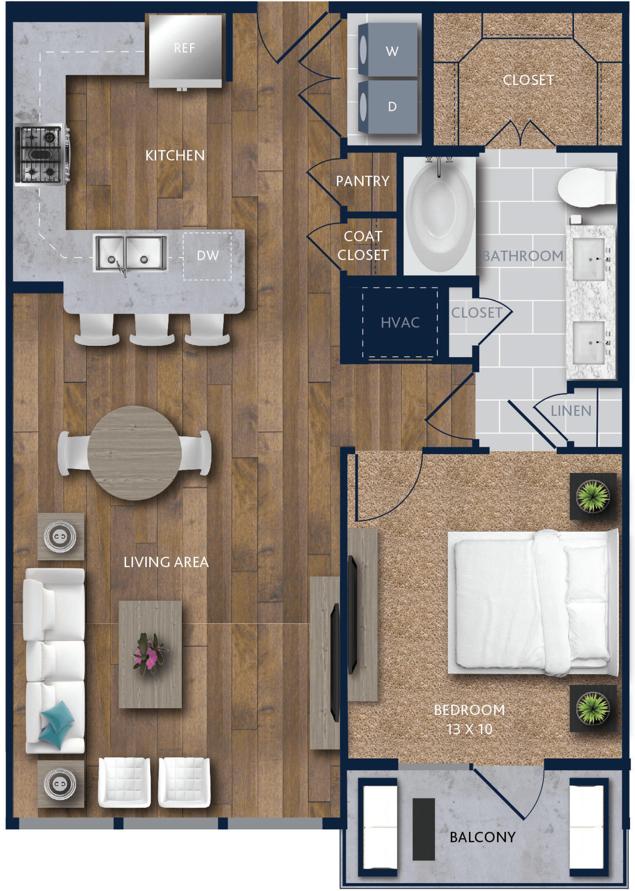 1 bedroom Apartment in Houston