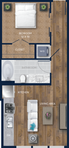 Studio Apartment Living With Style Alexan City Centre