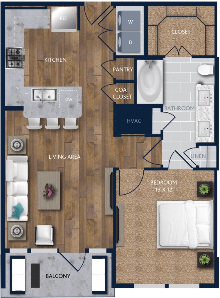A One-Bedroom Apartments near Downtown Houston | Alexan City ...