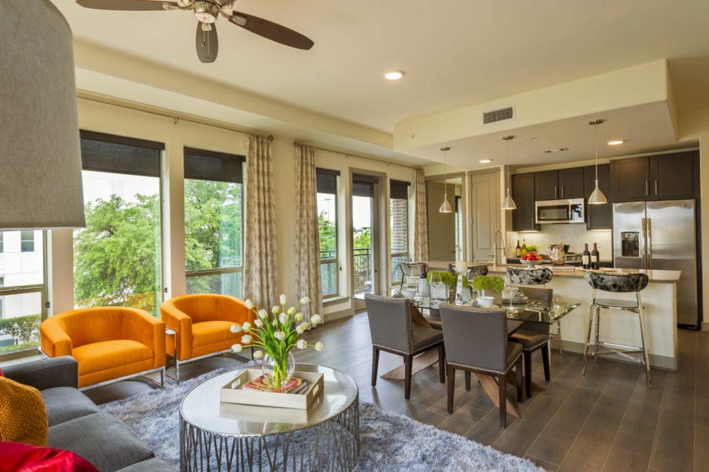 living area energy corridor apartments